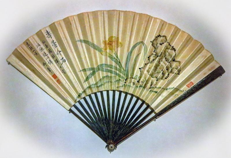 Fan with Daylilies w.vignette